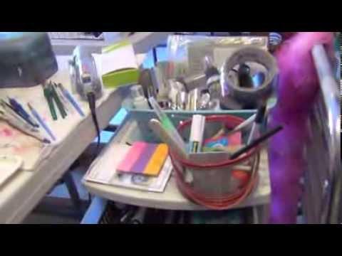 Studio Tour - Claudia Rossi Studios - Mixed Media Art Journaling