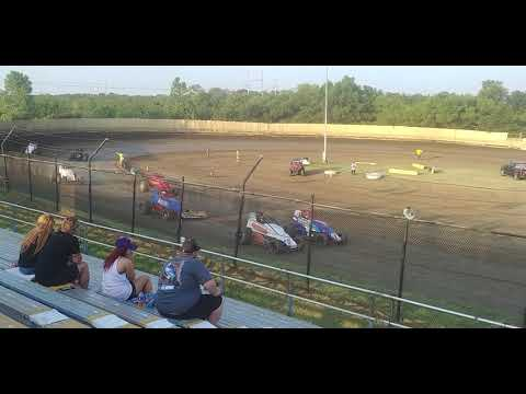 Creek County Speedway CHAMP Non-wing Sprint Cars heat 2 7/21/19