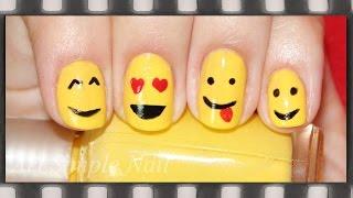 Смайлики - маникюр для коротких ногтей обычным лаком | Smiley Face Nail Art(Видео-урок: Маникюр смайлики. Мой второй канал: https://www.youtube.com/channel/UCK3f1p6VlYidoBfL8aAjXXA/videos Для маникюр использовали..., 2014-08-08T14:49:04.000Z)