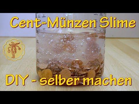 Slime: 1-Cent Münzen Slime - selber machen - DIY
