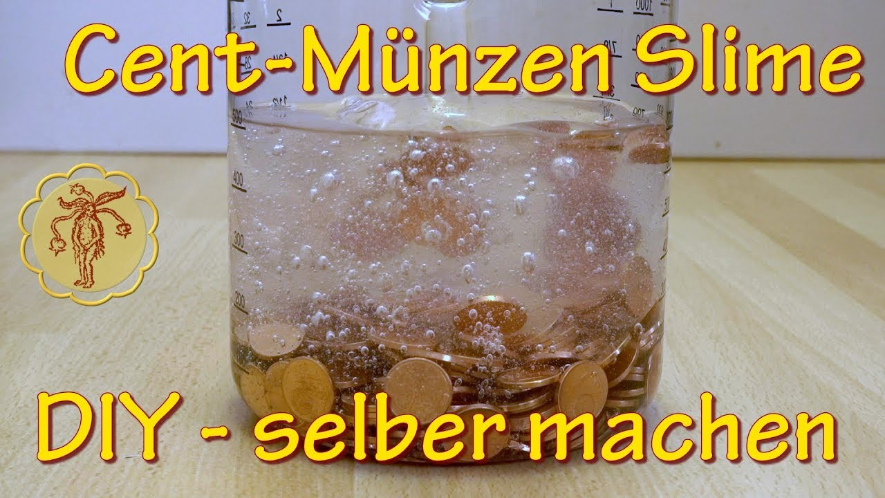 Slime 1 Cent Münzen Slime Selber Machen Diy Youtube
