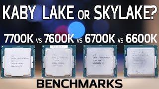 kaby lake vs skylake benchmarks 7600k and 7700k vs 6600k and 6700k