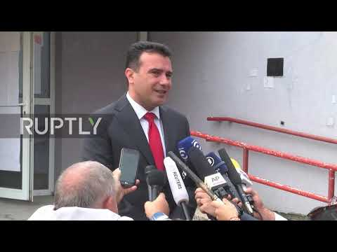 Macedonia: PM Zaev votes on new country name in hometown Strumica
