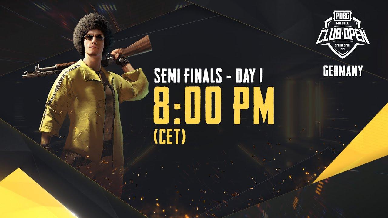 [DE] PMCO Germany Semi Finals Day 1 | Spring Split | PUBG MOBILE CLUB OPEN 2020