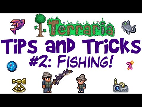 Terraria Fishing Tips And Tricks! Angler Quest Guide! Rods, Bait & Crates! (PC 1.3.3)