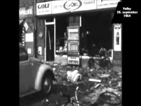 26. september 1964 - Oprydningen efter eksplosionen på Valby Gasværk - YouTube