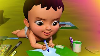 Crayon! Paint brush! Color Pencil! | Hindi Rhymes for Children | Infobells
