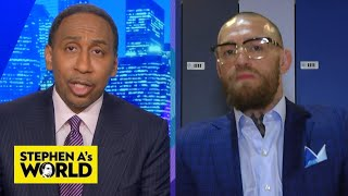 Conor McGregor talks Poirier rematch, says Khabib is scared | Stephen A's World