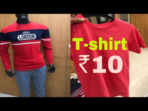 ₹10 में टीशर्ट ख़रीदे | CHEAPEST MARKET OF TEESHIRT LOWER SHORTS WHOLESALE TIRUPUR TAMILNADU INDIA