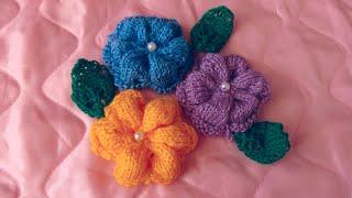 Вязание цветов (цветков) спицами(Вязание цветов (цветков) спицами http://bringingsuccess.ru/vyazanie.php Хочу показать Вам, как вязать цветочек. Набираем..., 2014-07-21T19:50:03.000Z)
