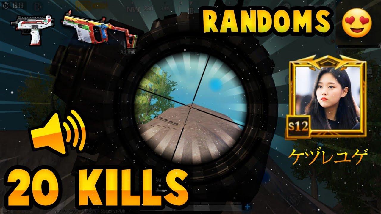 20 Kills With Randoms Full Gameplay || Samsung S9 || PUBG Mobile