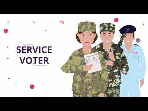 ECI : Service Voter, Postal Ballot, Proxy voting