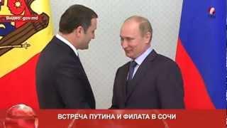 Встреча Путина и Филата в Сочи