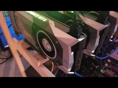 Ethereum Mining Rig Set Up GTX 1070 Founders Edition
