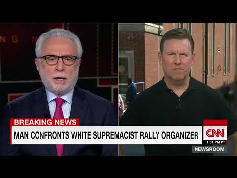 White supremacist rally organizer confronted