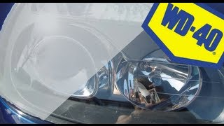 How To Fix Misted Headlights (WD-40)