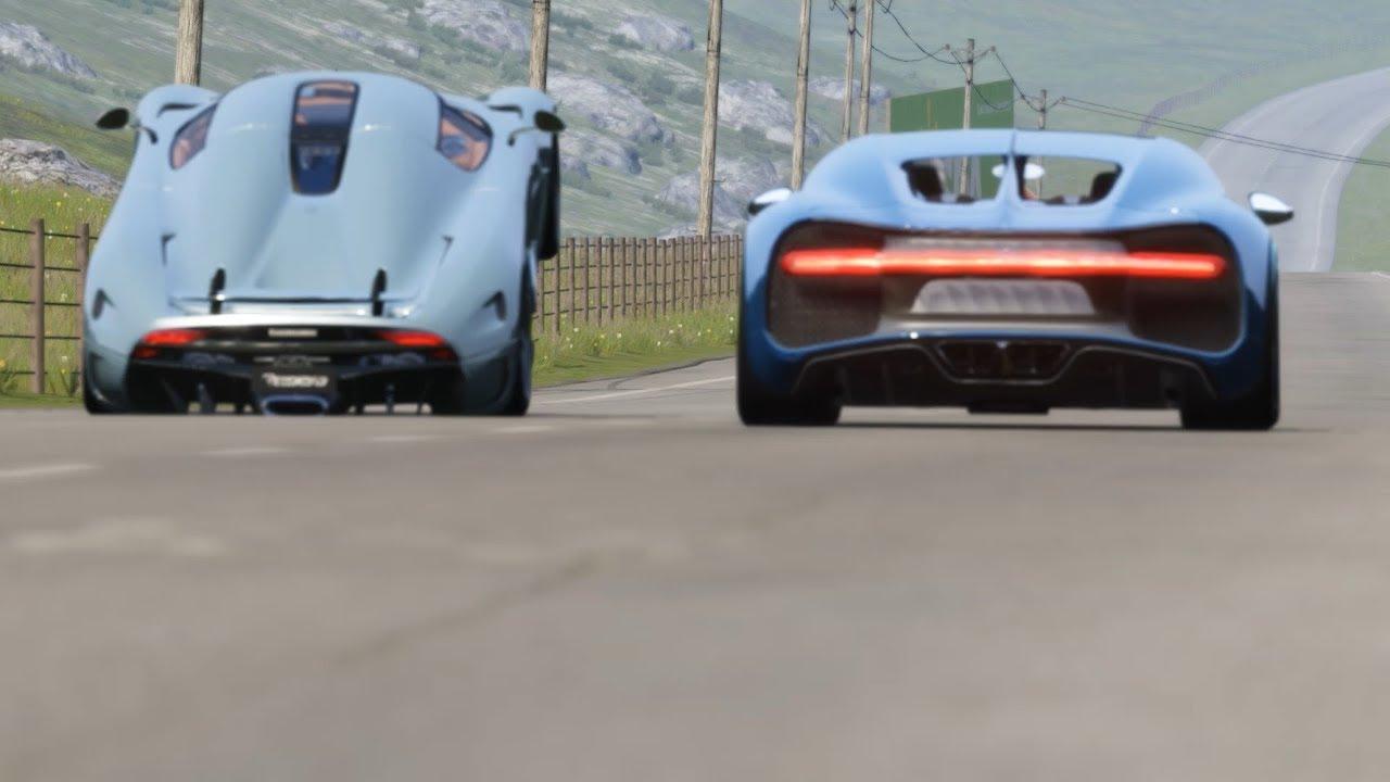 Bugatti Chiron vs Koenigsegg Regera at Highlands
