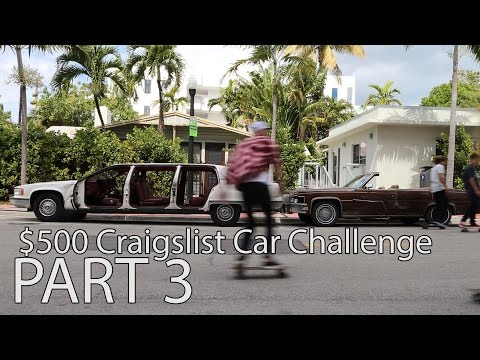 $500 Craigslist Car Challenge. ep 3. Selling the cars in Miami