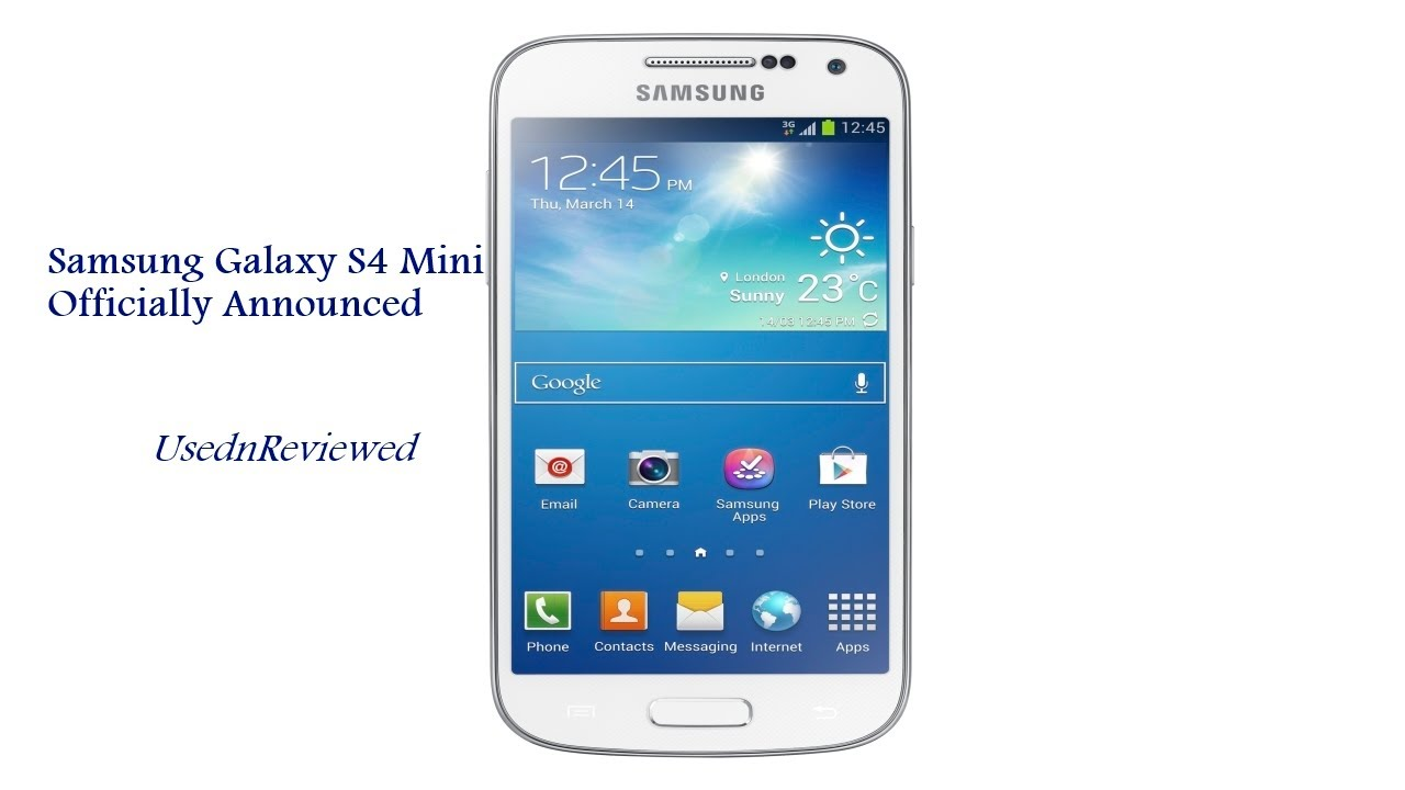 Samsung Galaxy S4 Mini Officially Announced (Galaxy S4 Mini Specs) - YouTube