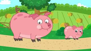 Учимся говорить * учим животных *развивающий мультик для малышей от 1 года * Как говорят животные