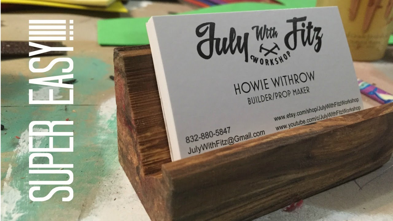 JWF-INCREDIBLY EASY BUSINESS CARD HOLDER!!! - YouTube