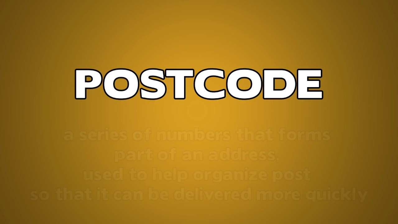 Postcode Meaning Youtube