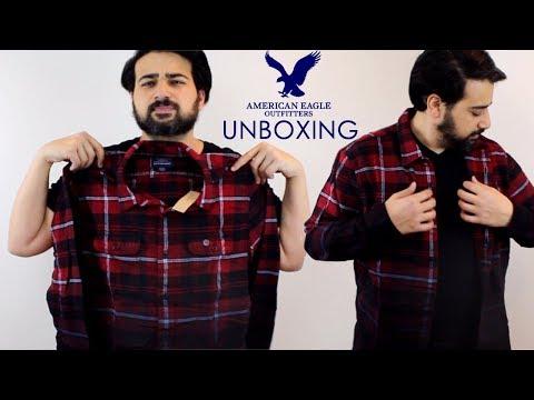 American Eagle Plaid Shirt Unboxing