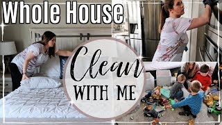 WHOLE HOUSE CLEAN WITH ME 2019 :: EXTREME SPEED CLEANING MOTIVATION :: ALL DAY SAHM CLEANING ROUTINE