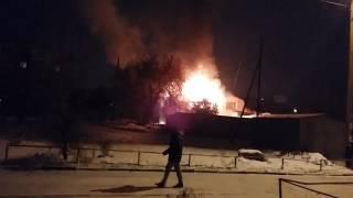 Пожар Омск 4 Любинская 35