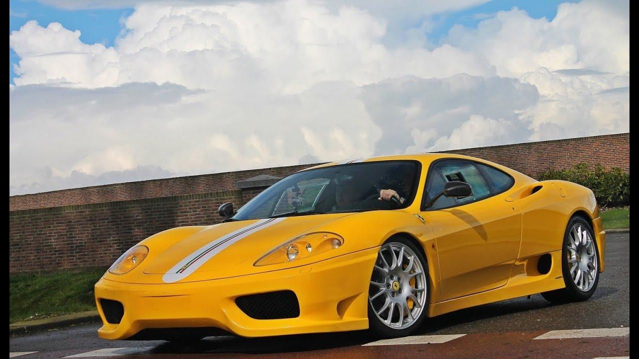 Yellow Ferrari 360 Challenge Stradale Full Acceleration Youtube