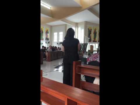 Con Te Partiro (solo) - Anima Duo at a Funeral service in Manila