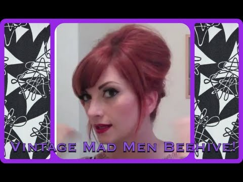 Vintage Everyday Beehive Bouffant Hair Tutorial By Cherry Dollface