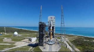 Aerial Views of Delta IV WGS-9