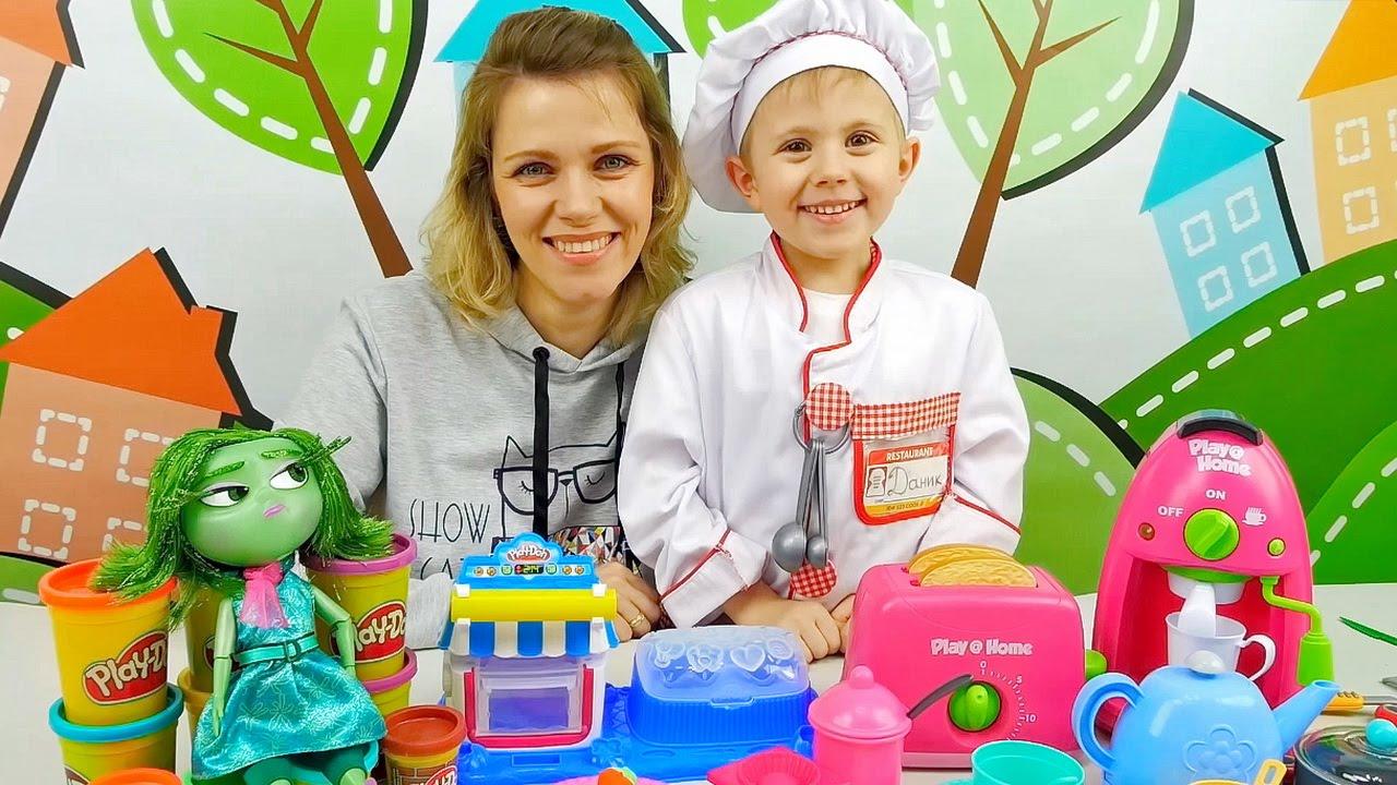 Повар Даник и Play Doh десерт для Брезгливости из мультика Головоломка. Видео для детей
