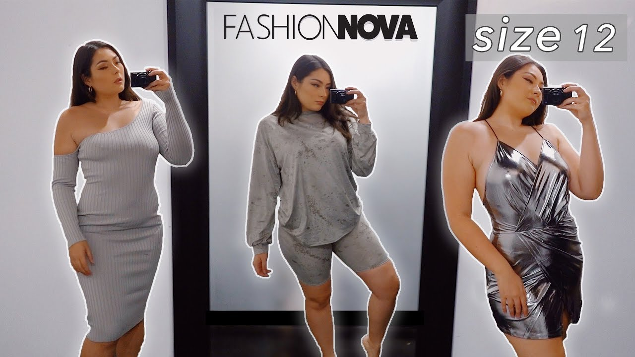 What Fits A Size 12 At Fashion Nova Youtube