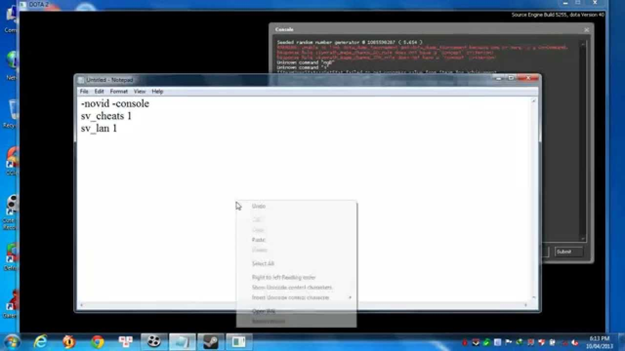 Hướng dẫn chơi Dota 2 offline(How to play dota 2 offline)