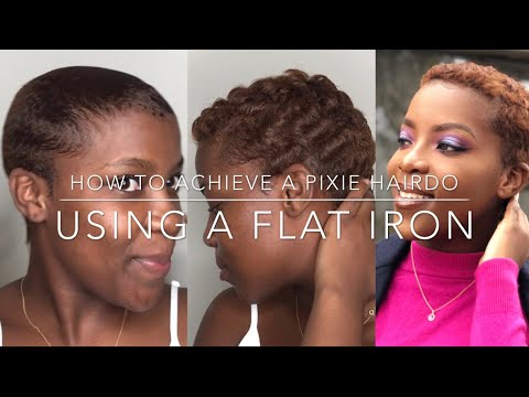 Achieve Pixie Using Flat Iron | How To Curl Short Hair Using Flat Iron | South African YouTuber