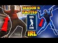 ALL *NEW* SEASON 4 FORTNITE EMOTES IRL (Orange Justice,Groove Jam,Hype,Popcorn,Respect) IN 100% SYNC