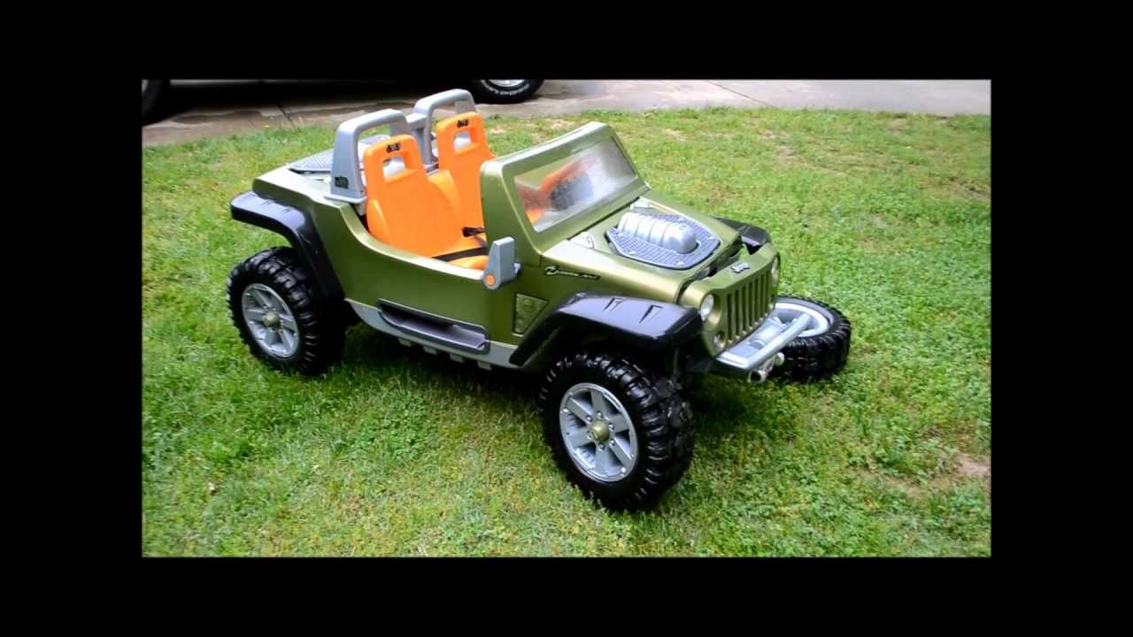 jeep hurricane power wheels up close - youtube