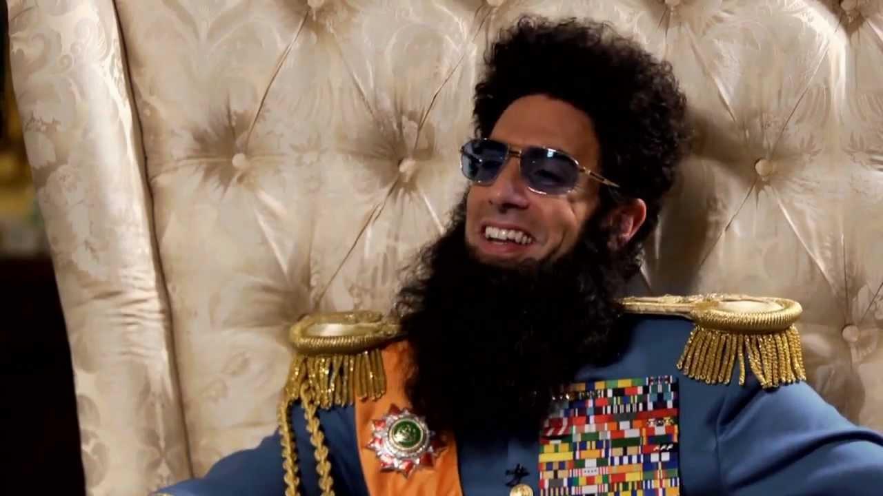 """صورة من فيلم """"the dictator"""""""