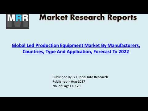 LED Production Equipment Market Size, Share, Trends, Industry Analysis & Forecasts in 2017