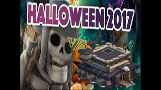NEW TROOP - Giant Skeleton Halloween Update 2017 V/s Town Hall 9(hindi)