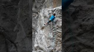Adam Ondra Trying The Crux Of His 9c Project In Flatanger