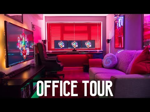 MY BRAND NEW ULTIMATE OFFICE/STUDIO/GAMING SETUP TOUR 2018!!!!