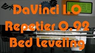xyz davinci 1 0a with repetier 0 92 bed leveling technique