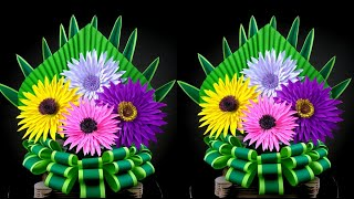 Lockdown Activity | Easy And Beautiful Flower Making For Home Decor Ideas | DIY Room Decor | Bouquet