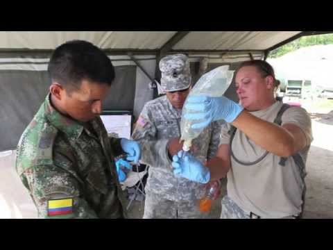 U.S. Army And Columbian Combat Medic IV Training