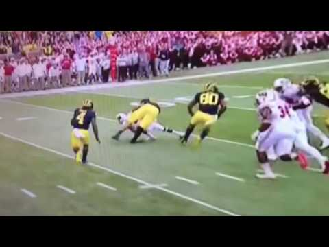 Michigan OL suffers a nasty knee injury; Ouch
