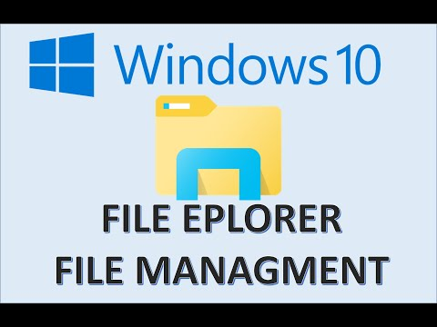 Windows 10 - File Explorer & Management - How to Organize Computer Files and Folders System Tutorial
