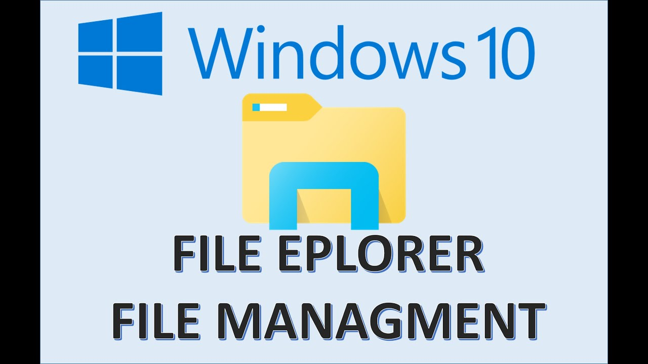 Windows 10 - File Management Tutorial - How To Organize Files and Folders  in File Explorer on a PC